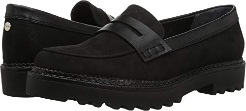 Circus by Sam Edelman Women's Dillon Loafer, Black Microsuede/Sheep Nappa, 9.5 M US (Nappa Platform)
