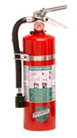 Buckeye 75550 Halotron Hand Held Fire Extinguisher with Aluminum Valve, 5.5 lbs Agent Capacity, 4-1 4 Diameter x 6-1 2 Width x 16-3 8 Height