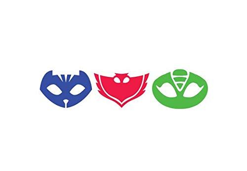 Decal Set Maple - Maple Enterprise PJ Masks Disney Set of 3 Catboy, Owlette, and Gekko Decal Sticker for car Laptop Wall (15