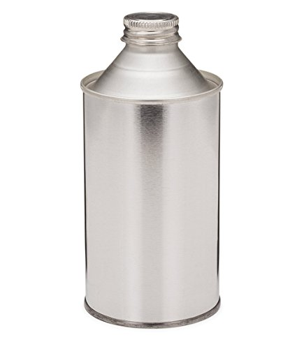 Tin Plated Cone Top Steel Metal Can With Metallic Cap   32 Oz Capacity