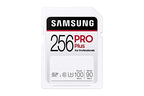 Samsung Pro Plus MB-SD256H/EU - Tarjeta de Memoria SDXC (256 GB, UHS-I U3, 100 MB/s, Full HD, 4 K)