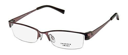 Sharper Image Sit 232 Mens/Womens Cat Eye Half-rim Eyeglasses/Eye Glasses (53-17-137, Shiny - Images Cat Glasses Of Eye