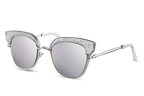 UV400 de Metálicas Cheapass Espejadas Gafas Silver Lentes Sol 5XcwwaF4q