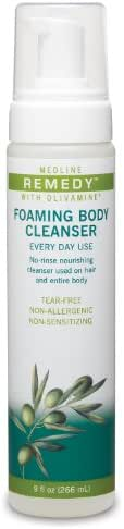 Medline Remedy Olivamine Foaming Body Cleanser, 12 Count