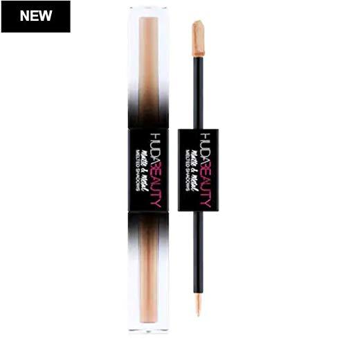 Huda Beauty Matte & Metal Melted Double Ended Eyeshadows! Metallic Eyeshadow Intense Shimmer, Blendability and Longevity! Choose Your Eye Shadow Color! (Faxu fur/bamboo hoops) ()