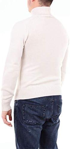 Paolo Pecora Fashion Man A0527012AVORIO White Wool Sweater   Season Outlet