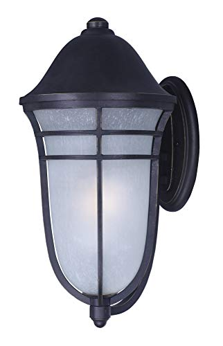 Maxim 34204WPAT Westport DC 1-Light Outdoor Wall, Artesian Bronze Finish, Wisp Glass, MB Incandescent Incandescent Bulb , 9W Max., Wet Safety Rating, 3000K Color Temp, Shade Material, 800 Rated Lumens