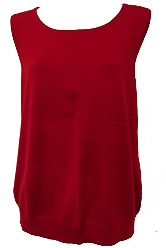 talbots-sleeveless-shell-classic-tank-top-red-size-xl