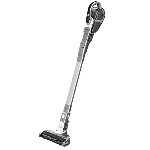 BLACK+DECKER HFEJ415JWMF10 Cordless 16V Lithium 2-N-1 Floor Extension Stick Vacuum – White