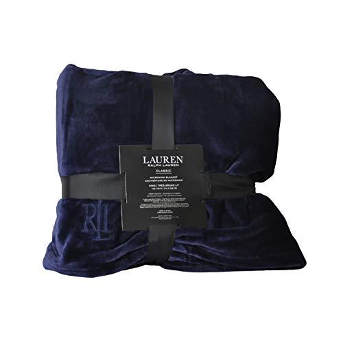Ralph Lauren Micro Mink Blanket - Navy- King Micromink class.