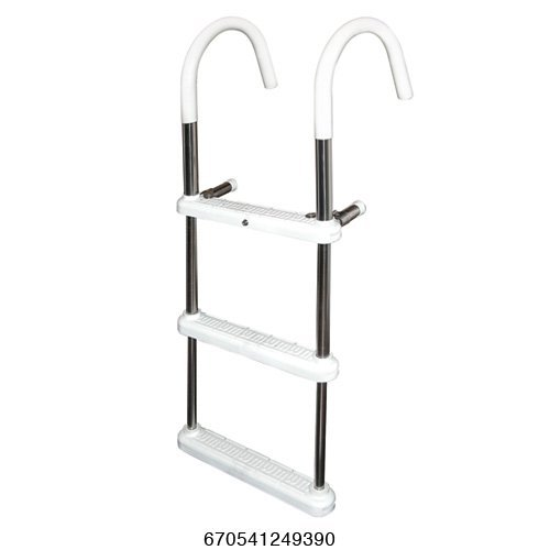 3 Step Gunwale 11'' Hook Ladder, Stainless 316 - Jif Marine