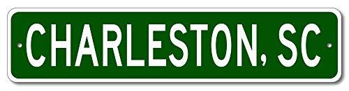 Charleston, South Carolina - USA City and State Street Sign - Aluminum 4