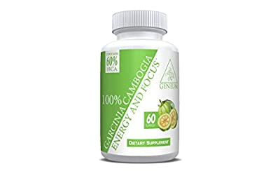 100% Garcinia Cambogia with 60% HCA - 60 Capsules - Effective Weight Loss Supplement and Appetite Suppressant That Works for All Men and Women - New and Improved Pharmaceutical Grade Formula