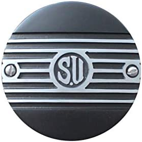 FORK エアクリーナーカバー Slip-On Cover, SU with Fin Black Flat SUキャブ用 1139-63B