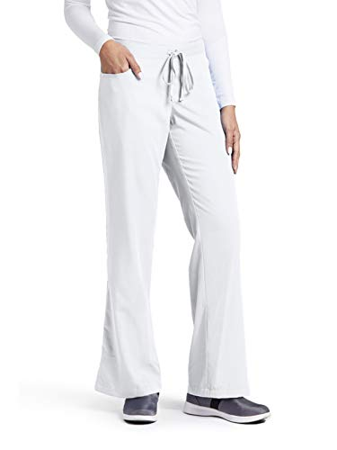 - Grey's Anatomy Women's Junior-Fit Five-Pocket Drawstring Scrub Pant - X-Large Tall - White