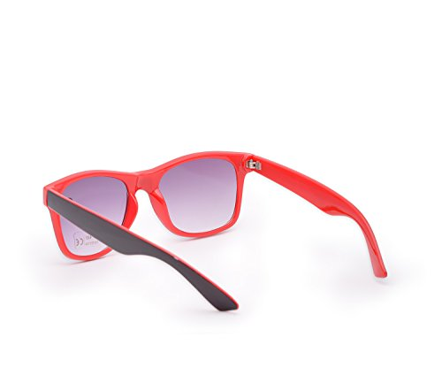 de Rouge Noir Lunette soleil Femme Rouge 4sold xF1waU5qU