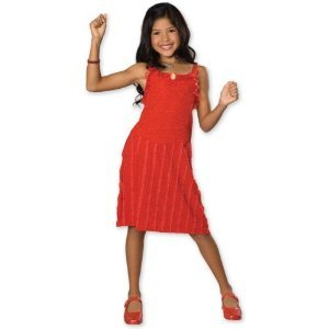 [Child SM (Size 4-6, 3-4 yrs)- Festive Gabriella HSM Dress] (Hsm Costumes)