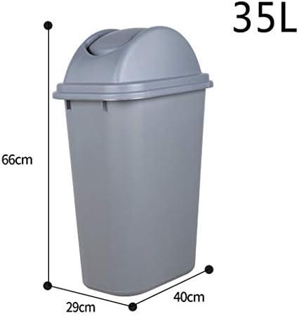 滑らかな表面 キッチンごみ箱、浴室防水多機能ごみビンホテル回廊ゴミ箱屋外プラスチック耐久酷いビン リサイクル可能なデザイン (Size : 35L)