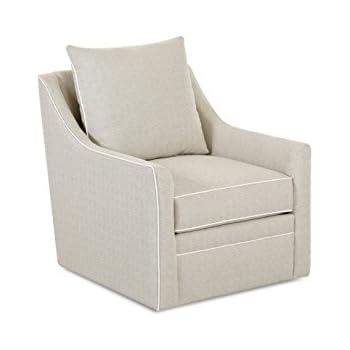 Klaussner Larkin Swivel Chair, Beige