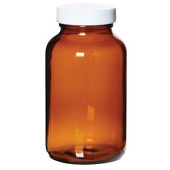 Cole-Parmer APC1213 Wide-Mouth Amber Glass Bottle, Level 1, 1000 mL; 12/Cs