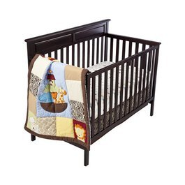 Tiddliwinks Noah's Ark 3pc Crib Bedding Set with Modern Zebr