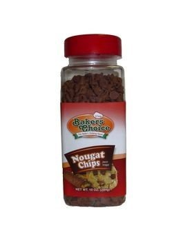Nougat Flavored Chocolate Chips – Baking Ingredient, Topping and Decoration Candy for Ice Cream, Desserts and Baked Goods, Non Dairy, Kosher - 9 oz. - Baker's Choice ()