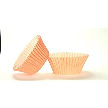 Amazon.com: 50pc Solid Peach Color Standard Size Cupcake Baking ...