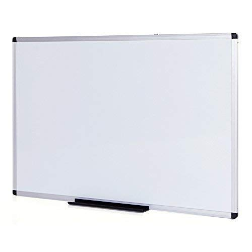 - VIZ-PRO Dry Erase Board/Whiteboard, Non-Magnetic, 48 x 36 Inches, Wall Mounted Board for School Office and Home