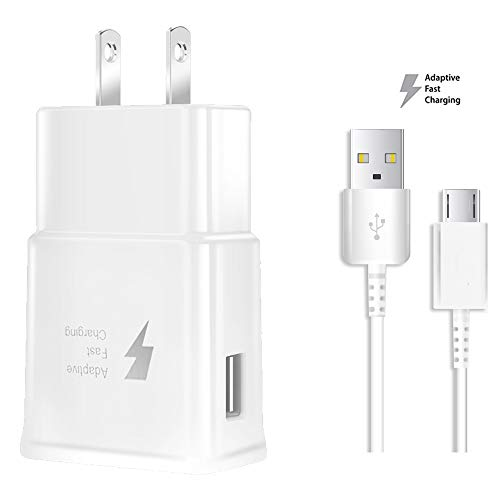 nhndjy Samsung Fast Charger, Samsung Galaxy s7 Charger For Samsung S7 S7 Edge S6 S6 Edge Note5 LG G3 G4,Galaxy Charger Samsung Adaptive Fast Charger Micro USB 2.0 Cable Kit(Fast Wall Charger+Micro Cab