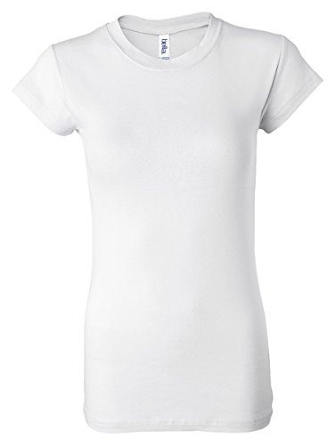 Bella Ladies Kimberley Cap Sleeve Crewneck T-Shirt - White - X-Large