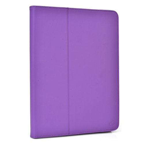 """Icarus Illumina HD Folio Case Cover Stand with Soft Grip Clips - Universal Style fits Most 8"""" Devices   Purple Exotic Bloom"""
