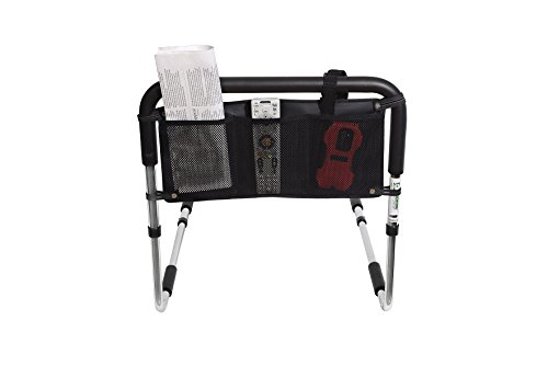 Essential Medical Supply Height Adjustable Hand Bed Rail with Three Pocket Pouch by Essential Medical Supply (Image #1)