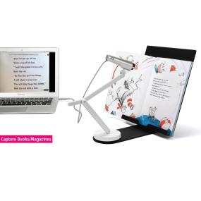 Mount documents, books, iPads, receipts, business cards, and more