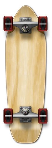 "YOCAHER New Complete Longboard- MINI CRUISER- BANANA CRUISER 27"" X 8"", Natural"