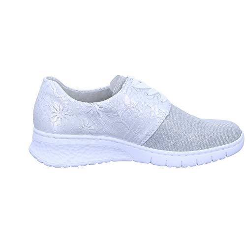 silver Strada Silber Lacci scarpe scarpe scarpe Stringate elegante sneaker Con 90 58129 scarpe Donna sportivo Da Sneaker Rieker Casuale scarpe FUBzwA1qU