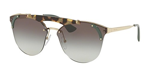 Prada Women's Ornate Aviator Sunglasses, Gold Havana/Grey, One - Ladies Glasses Prada
