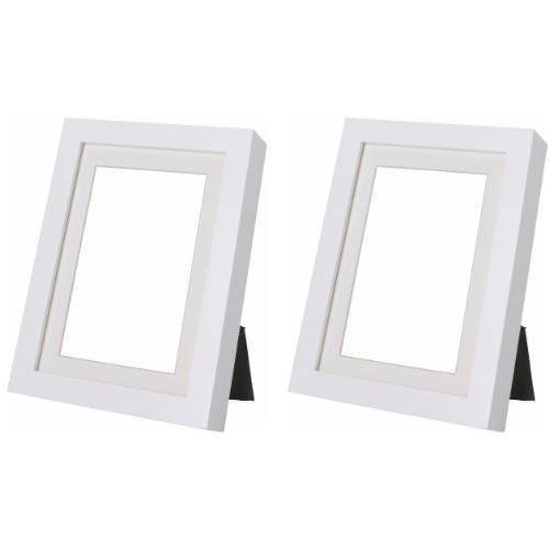 (Ikea Ribba 5x7 Picture Frame. White. Set of 2)