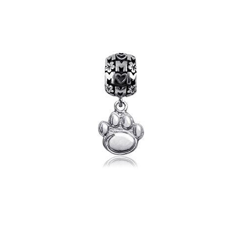 (Penn State Jewelry Nittany Lions PSU Sterling Silver Jewelry by Dayna Designs (Mom Charm Bead))