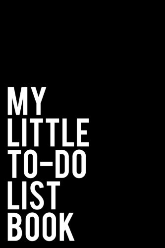 Black Tiny Check - My Little To-Do List Book: 6x9 Checkoff Journal With 150 Daily Lined To-Do Lists with 14 Check-boxes - Black