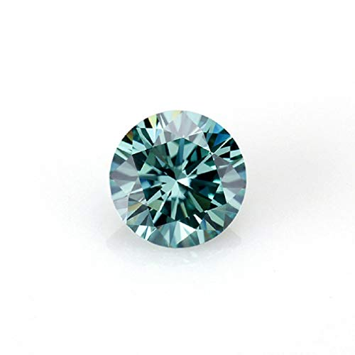 JEWELERYIUM 1.50CT Real Blue Color Moissanite Diamond, VVS1 Clarity Moissanite Stone Round Cut Brilliant Gemstone for Jewelry Making, Ring, Earrings, Necklaces, Watches from JEWELERYIUM