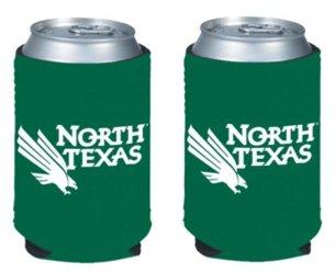 (NCAA North Texas University Logo Color Can Kaddy Holder Cooler 2-Pack )