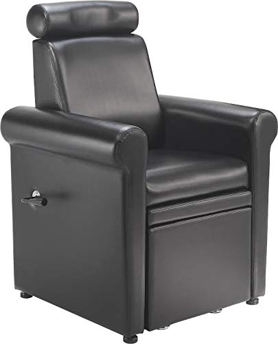 Standish Salon Goods – Chloe Pedicure Chair in Black – Reclining – Water Resistant