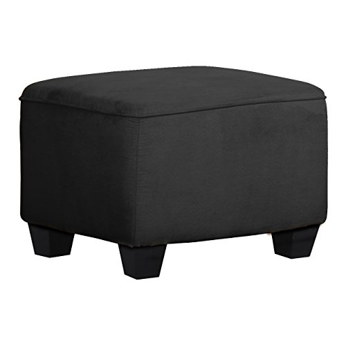 Shermag Upholstered Ottoman, Grey by Shermag