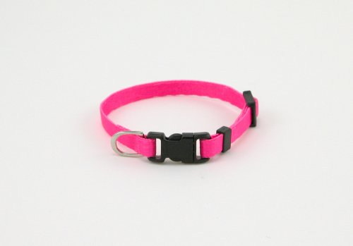 LI'L PALS Adjustable Dog Collar Pink with a Width of 5/16 in.