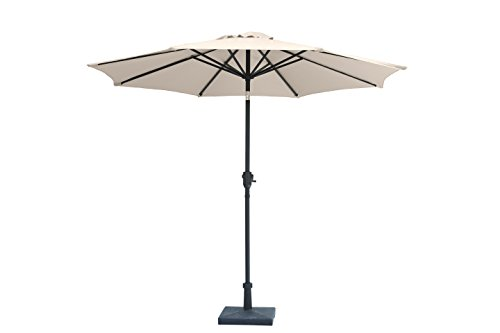 """(Jardin du Sud"""" 9 Feet Aluminum Patio Umbrella with Auto Tilt and Crank, 220 GSM Fade Resistant Canopy – Bring Shade and Style to Your Yard)"""
