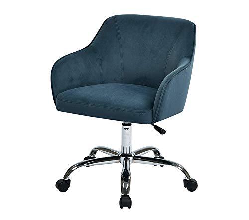 Premium Bristol Chrome Base Upholstered Task Chair, Atlantic Blue Velvet