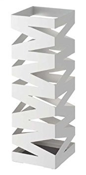 ''Rock'' White Metal Modern Umbrella Stand, Accommodates up to 6 Umbrellas , 19'' H by Sunline