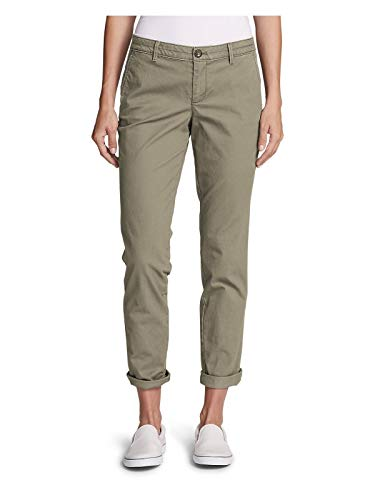 Eddie Bauer Women's Stretch Legend Wash Pants - Boyfriend, Cloud Regular 14 ()