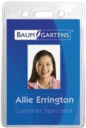 Baumgartens Bulk Buy Badge Holder Vertical 12 Pack Clear (4-Pack)