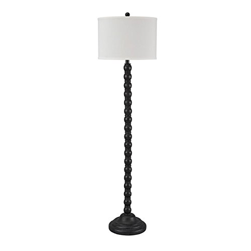 Signature Design by Ashley L276001 Shellany Vintage Causal Poly Floor Lamp with Drum Shade, Antique Black (Vintage Character Port)